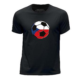 STUFF4 Chłopca rundy szyi koszulka/Czeski Republika piłka nożna/czarny