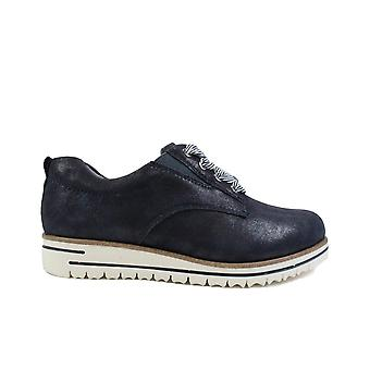 Tamaris 23744 Navy Leather Womens Lace Up Shoes