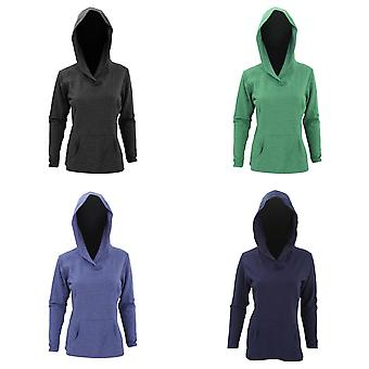 Anvil Womens/Ladies Hooded French Terry Sweatshirt / Hoodie