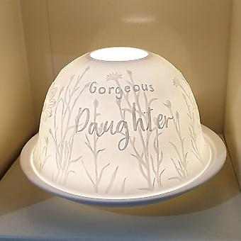 Nordic Lights Candle Shade & Plate - Daughter