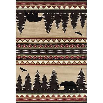 22&; x 36&; x 0,4&; Beżowy dywan z polipropylenu