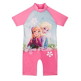 Disney Frozen Elsa Anna Official Gift Toddler Girls Kids Swim Surf Suit