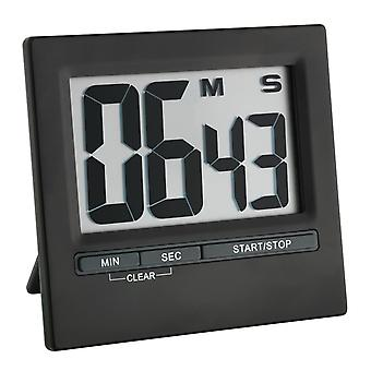 Electronic Timer and Stopwatch with Large Display Front Black Aluminium