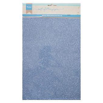 Marianne Design Dekoration weiche Glitter Papier 5sh - blau CA3146 A4