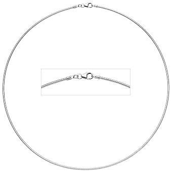 Naisten kuristin 925 sterling hopeaa 1,1 mm 38 cm hopeaketjuinen karabiini