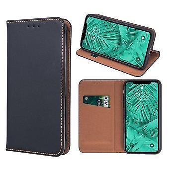 iPhone 11 Pro-ekte skinn flip Case mobil lommebok-svart