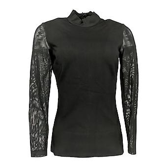 G.I.L.I. got it love it Women's Top Milano Ponte Mock Neck Black A268582 #0