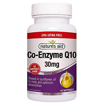 Nature's Aid CO-Q-10 30mg (Co-Enzym Q10) Softgels 45 (11816)
