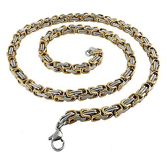 9 mm royal chain bracelet men's chain men chain necklace, 45 cm silver / gold stainless steel chains
