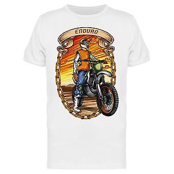 Enduro Motocross Design Tee Miesten's -Kuva Shutterstock