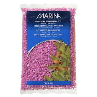 Marina MARINA DEKORATIVKRÄFTE IN ROSE 2 kg (Fische , Aquariumsdeko , Kies und sand)