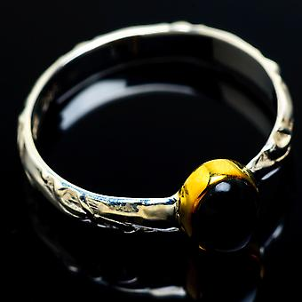 Black Onyx Copper Ring Size 8.5 (925 Sterling Silver)  - Handmade Boho Vintage Jewelry RING7555