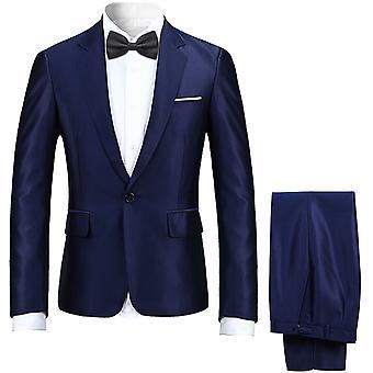 איש הגברים ' s High-end חליפה 2-חתיכות חליפה אחת כפתור קלאסי מזדמנים & החתונה הרשמי חליפות לייזר & מכנסיים