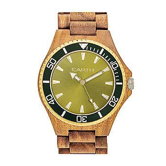 Reloj de pulsera de centurión de madera de la tierra - oliva