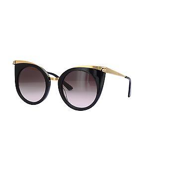 Cartier Panthére de Cartier CT0122S 001 Schwarz/Braun Farbverlauf Sonnenbrille