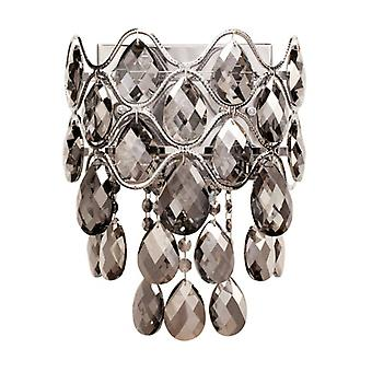 Chrome Wall Light Crystal 3 Bulbs 16 Cm