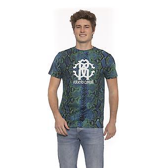 Roberto Cavalli Grön T-shirt för män