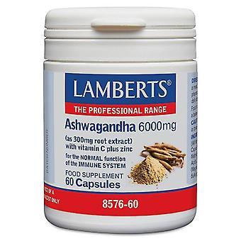 Lamberts Ashwagandha 6000mg Capsules 60 (8576-60)