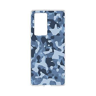 Hull For Huawei P40 Pro Soft Blue Military Camouflage