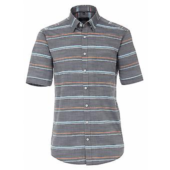 CASA MODA Casa Moda Horizontal Stripe Short Sleeve Shirt