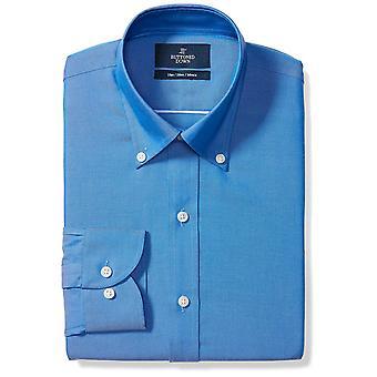BUTTONED DOWN Men's Slim Fit Button-Collar Solid Non-Iron Dress Shirt (No Poc...