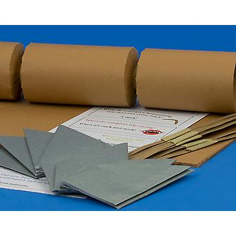 8 Jumbo Tan Make & Fill Your Own DIY Recyclable Christmas Cracker Craft Kit
