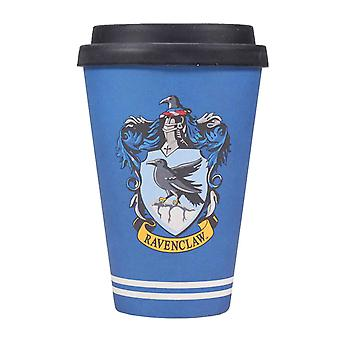 Harry Potter Travel Mug Ravenclaw House Crest new Bamboo Official Blue