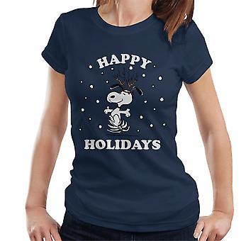 Erdnüsse Weihnachten Frohe Feiertage Snoopy Frauen's T-Shirt