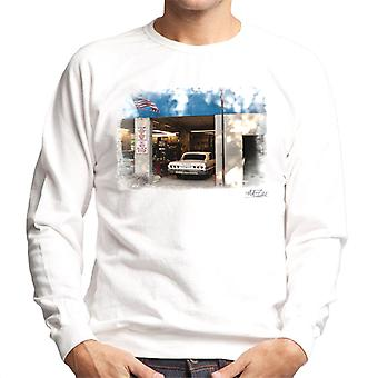 Chevrolet Impala Auto myymälä valkoinen miesten svetaripaita