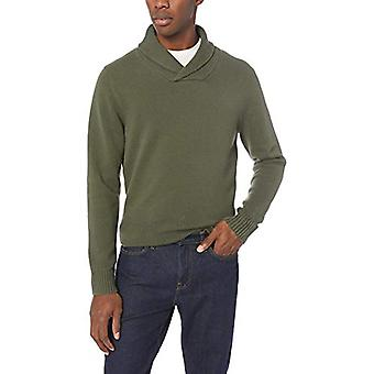 Brand - Goodthreads Men's Soft Cotton Shawl Sweater, Solid Olive, X-La...