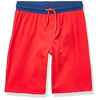 Essentials Boys' Little Swim Trunk, Red, X-Small