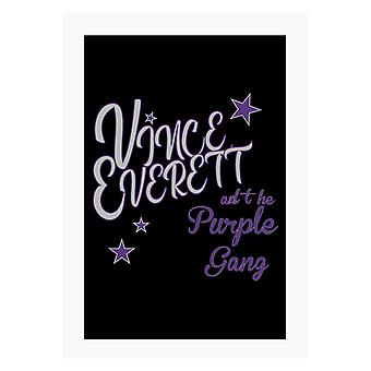 Jailhouse Rock Vince Everett ja Purple Gang A4 Tulosta