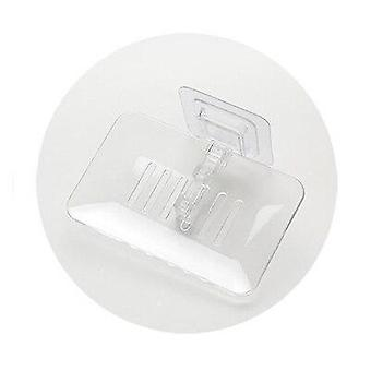 Portable Single Layered Draining Holder and Container Soap Box for Kitchen and Bathroom