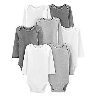Simple Joys by Carter's Baby 7-Pack Long-Sleeve Bodysuit, White, 0-3 Months