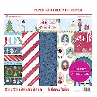 Craft Smith Holiday Ballet 12x12 Inch Paper Pad
