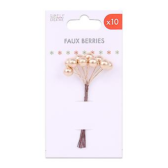 Simply Creative Basics Faux Berries Gold