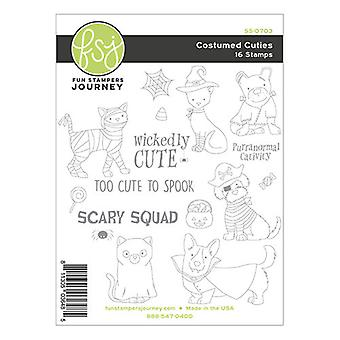 Fun Stampers Journey Costumed Cuties Clear Stamps
