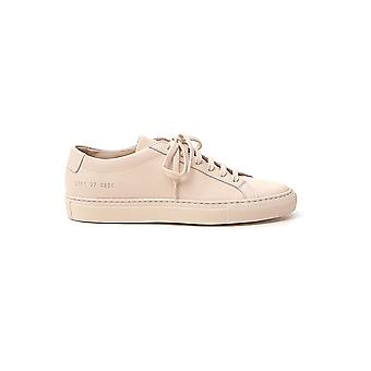 Common Projects 37010600 Women's Nude Leather Sneakers