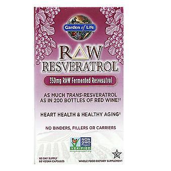 Garden of Life, RAW Resveratrol, 350 mg, 60 VeganKapseln