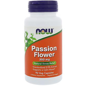 Maintenant aliments, Passion Flower, 350 mg, 90 capsules de légumes