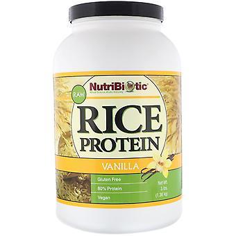 NutriBiotic, Raw Rice Protein, Vanilla, 3 lb (1,36 kg)