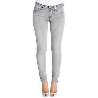 Gray Wash Cotton Denim Stretch Slim Fit Jeans -- SIG3869701