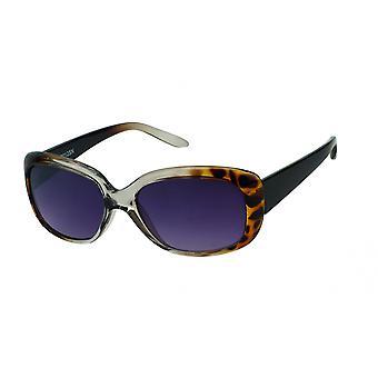 Gafas de sol mujeres rectangulares amarillas/marrones/violetas (20-062A)