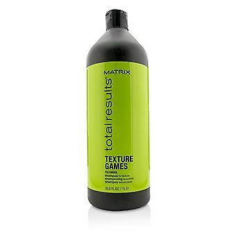 Matriz de resultados Total textura jogos polímeros Shampoo (para textura) 1000ml/33.8 oz