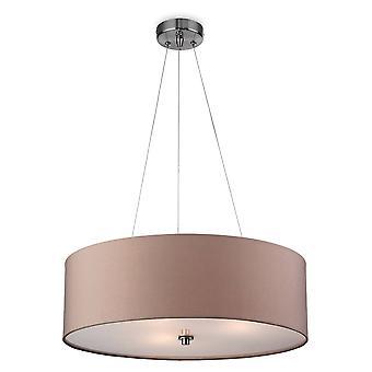 3 Lichte Ronde Plafondhanger Taupe, E27