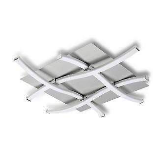 Inspirert Mantra - Nur - Tak 34W LED 3000K, 2600lm, Dimbar Sølv, Frostet Akryl, Polert Krom