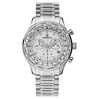 ORPHELIA mannen Chronograph Watch Master Silver Stainless steel OR82702