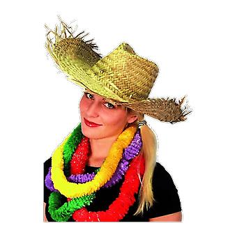 Straw Hawaiian Beach Hat Fancy Dress Costume Accessory