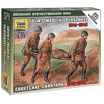 Zvezda Z6152 Sovjetiska medicinsk personal Siffror Skala 1:72 Modell Kit