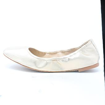 Vince Camuto Brindin Leather Flat Egyption Gold Shoes  / New With Box